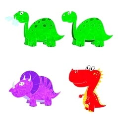 dino set icon vector image vector image
