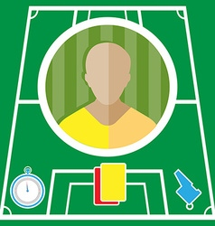Football player icon vector