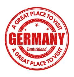 Germany grunge stamp vector