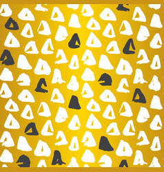 Gold triangle seamless pattern vector