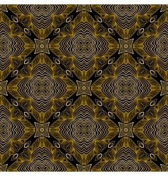 Linear pattern in art deco style in old gold vector