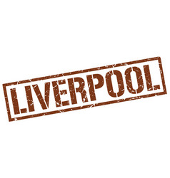 Liverpool brown square stamp vector