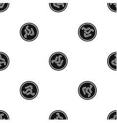 lot of bacteria pattern seamless black vector image vector image