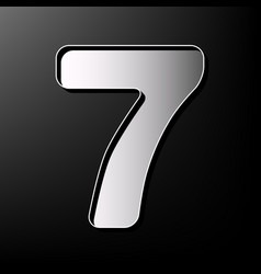 Number 7 sign design template element vector