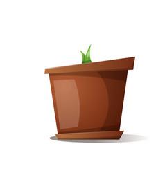 pot grass - cartoon vector image