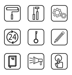 Service icons on white background vector