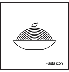 Spaghetti or noodle simple icons vector