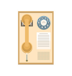 telephone vintage icon vector image vector image