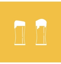 Two Full Glasses of Beer vector image