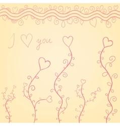 Valentine hearts vector image