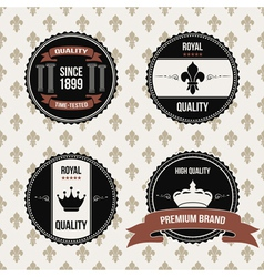 Vintage royal labels vector