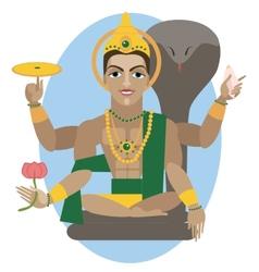 Vishnu deity vector