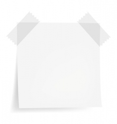 white note papers vector image vector image