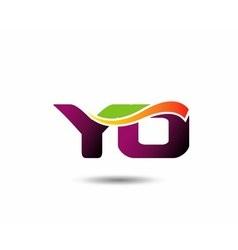 YO Logo vector image