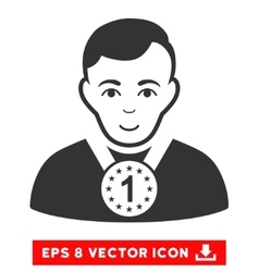 Champion eps icon vector