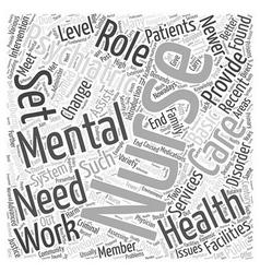 Mental health nursing word cloud concept vector