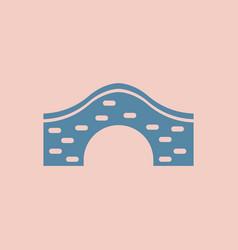 brick bridge arch architecture building monument vector image