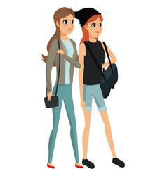 women fashionable looking design vector image