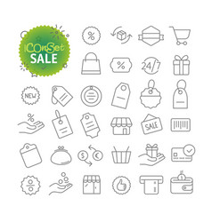 Outline icon set web and mobile app thin line vector