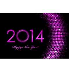 2014 happy new year purple background vector