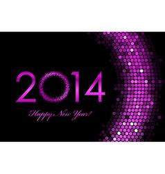 2014 happy new year purple background vector