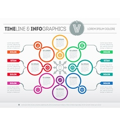 Web template for circle diagram or presentation vector