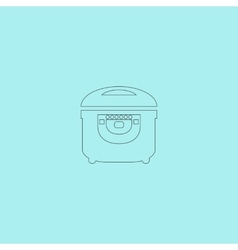 Electric cooker icon on background vector