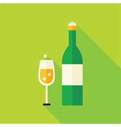 Flat design champagne celebration icon vector