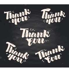Thank you handwritten inscription written vector