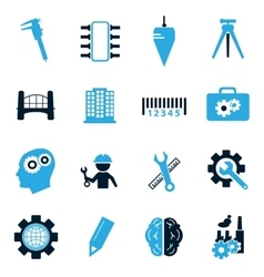 Engineering icons set vector