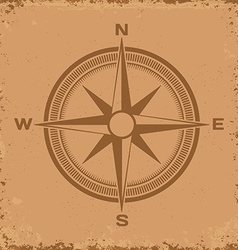 Compass wind rose on grunge background vector
