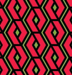 Colorful geometric overlay seamless pattern vector
