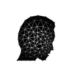 Abstract head man with triangles eps 10 vector image vector image