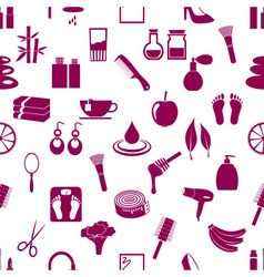 Beauty theme big set of various icons seamless vector