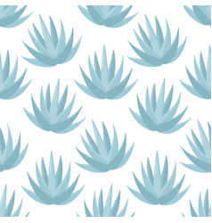 blue agave seamless pattern vector image vector image