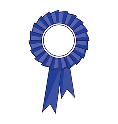 Blue award ribbon vector image vector image