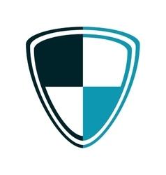 blue shield emblem icon vector image