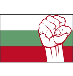bulgaria flag with fist vector image vector image
