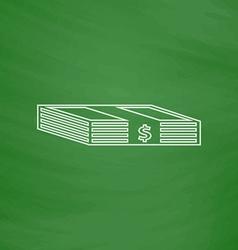 Bundle of Dollars computer symbol vector image vector image