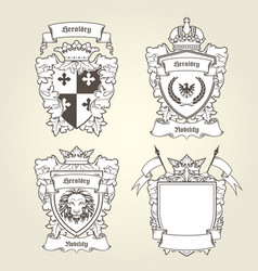 coat of arms templates - heraldic shield vector image vector image