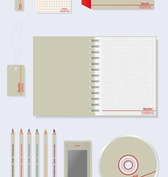Corporate identity templates vector image vector image