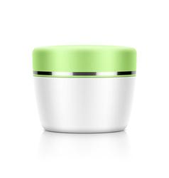 Cosmetic jar vector