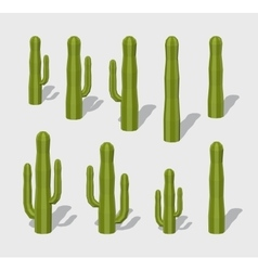 Cube world cactuses vector