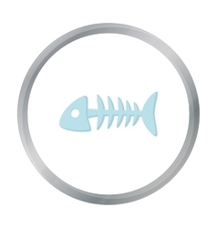 Fish bone icon of for web and vector image
