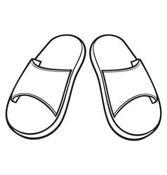 flip flops vector image vector image