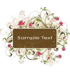 Floral banner design vector