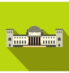 German reichstag building icon flat style vector