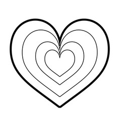 heart love romance passion style icon vector image