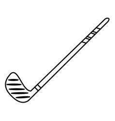 hockey stick game image outline vector image vector image