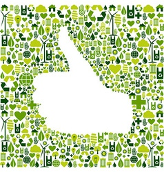 I like go green icons in hand vector